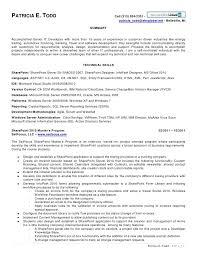 etl developer resume sharepoint resume exles