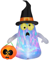 gemmy airblown inflatables halloween projection kaleidoscope ghost