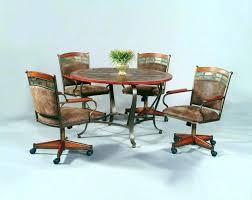 Chromcraft Furniture Kitchen Chair With Wheels Kitchen Chairs With Wheels Dining Room Chairs On Wheels