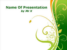 green floral powerpoint template ideas pinterest floral