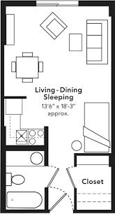 beta gamma studio apt for 2 side viewstudio apartment floor plans