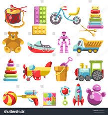 kid toys vector icons children playthings stock vector 603592931
