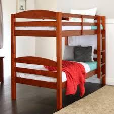 Amazoncom Walker Edison Solid Wood Twin Bunk Bed Espresso - Furniture bunk beds