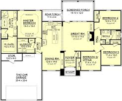 Floor Plans 2000 Sq Ft by House Plan 4 Beds 2 Baths 2000 Sq Ft Plan 430 74 Main Floor Plan