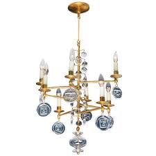Swedish Chandelier Swedish Gilt Iron And Glass Chandelier By Erik Hoglund At 1stdibs