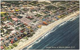 Myrtle Beach Map Aerial View Of Myrtle Beach S C Digital Commonwealth