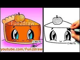 how to draw thanksgiving things pumpkin pie fun2draw