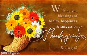 wishing you success on thanksgiving free business greetings