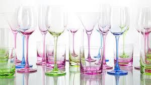piatti e bicchieri di plastica colorati dalani calici di plastica per il vino e i dessert