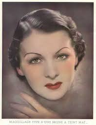 Makeup Pinterest 1930s Makeup Simple Eyes Bold Lip And Very Thin Eyebrows