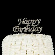 happy birthday cake topper happy birthday cake topper silver party supplies decoration