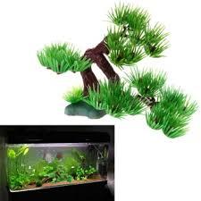 harga artificial plant tree aquarium fish tank rockery hotel