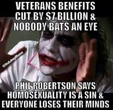 Phil Robertson Memes - the non case of veterans v robertson stupidbadmemes