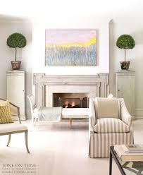 Mantel Topiaries - tone on tone all about myrtle topiaries