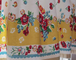 Retro Kitchen Curtains 1950s by Retro Kitchen Curtains 1950s Fabric