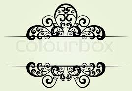royal floral ornament with space for your text stock vector