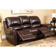 Sofa Set Abbyson Lexington Dark Burgundy Italian Leather Reclining Loveseat