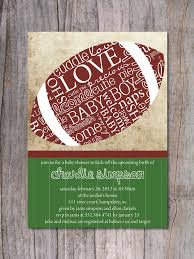 football themed baby shower football baby shower invitations marialonghi