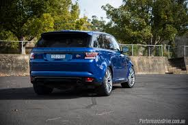 light blue land rover 2016 range rover sport svr review video performancedrive
