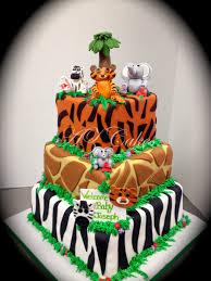 jungle theme baby shower cake safari jungle themed cake az cakes by elizabethaz cakes by elizabeth