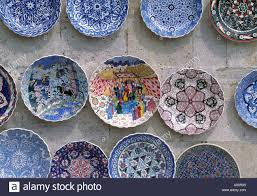 painted plates for sale istanbul turkey stock photo royalty