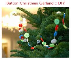 make a button garland for your tree the magic onions