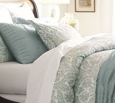 Pottery Barn Alessandra Duvet Samantha Damask Cotton Duvet Cover King Cal King Blue Blue