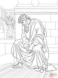 david weeping over the death of absalom coloring page free