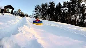 epic backyard snow tubing youtube