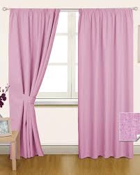 Curtain Pair Pink Pencil Pleat Blackout Curtain Pair Homescapes