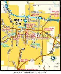 south dakota map with cities south dakota state map stock vector 88866595