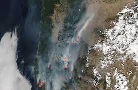 Six Flags Magic Mountain Fire Numerous Fires Spread From North To South In Oregon Nasa