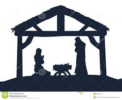 free silhouette images mary and joseph silhouettes royalty free stock image image 33002466