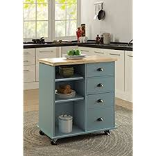 kitchen island pics amazon com winsome mali kitchen cart bar serving carts
