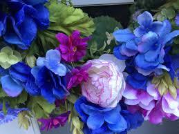 Purple Hydrangea Blue U0026 Orchid Hydrangea With Phlox And Ranunculus Wreath Wreaths