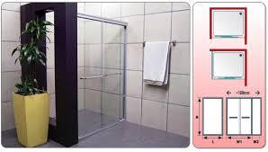 crystal tech double sliding shower door ct8005 ctm