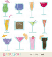 tropical cocktail silhouette drinking clipart cocktail party pencil and in color drinking