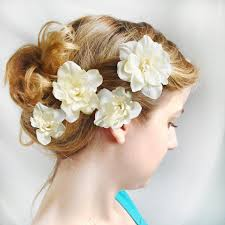 flower hair clip ivory flower hair pins wedding flower hair accessories bridal