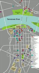 Map Of Chattanooga Tennessee by
