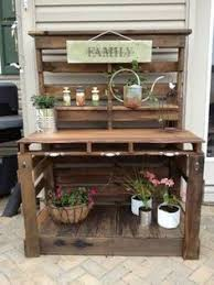 Pallet Table For Sale Pallet Garden Table Before Sanding And Paint Gardening Rustic