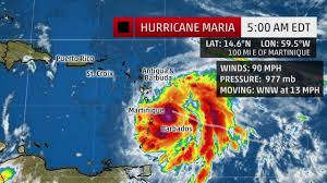 Puerto Rico Crime Map by Powerful Hurricane Maria Forecast To Pass Within 10 Miles Of St