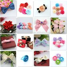 satin ribbon bows pre made satin ribbon bows with pearl bead center buy ribbon