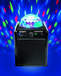 ion bluetooth speaker with lights ion audio party power bluetooth speaker with disco party led lights