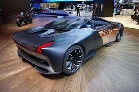 peugeot onyx onyx hybrid supercar shines in paris w video