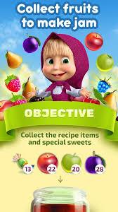 masha bear jam match 3 games kids android apps