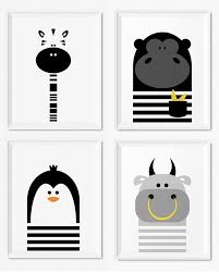 Modern Black And White Kids And Nursery Wall Art Prints - Prints for kids rooms