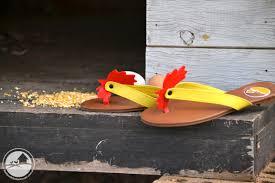 chicken thongs by backyard chicken coops