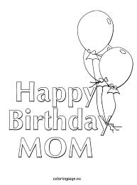 happy birthday mom u2013 balloons coloring page kid crafts
