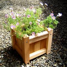 small square wood garden planter boxes using reclaimed wood with