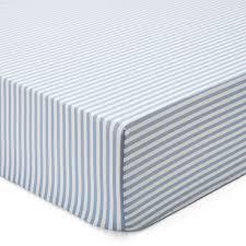 korla bed linen white with light blue striped detail